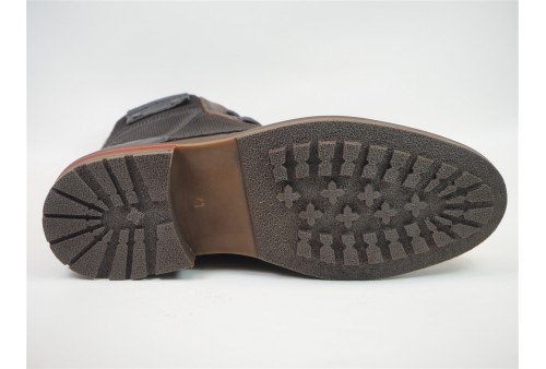 ambroise peau chaussures lacets cuir anthracite