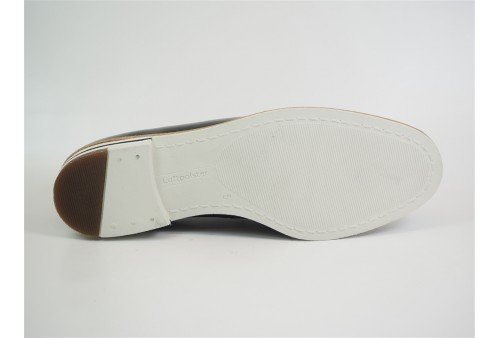 f0703 chaussure élastique cuir homme marino