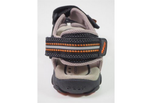 j pavel b sneakers scratch garçon grey orange